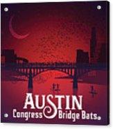 Austin Congress Bridge Bats Acrylic Print