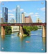 Austin Texas Skyline, Colorado River Acrylic Print
