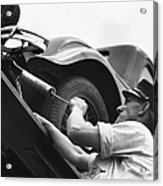Auto Mechanic Vintage Acrylic Print