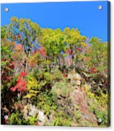 Autumn Color On Newfound Gap Road In Smoky Mountains National Park Acrylic Print