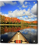 Autumn In A Canoe Acrylic Print