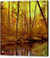 Autumn - Krasna River Acrylic Print