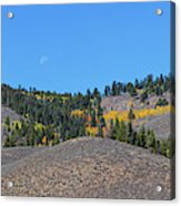 Autumn Moon Setting Panoramic View Acrylic Print