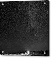 Autumn Night - Sauble Beach - Two Galaxies Bw Acrylic Print