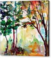 Autumn Trees Watercolors Acrylic Print
