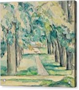 Avenue Of Chestnut Trees At The Jas De Bouffan  Acrylic Print