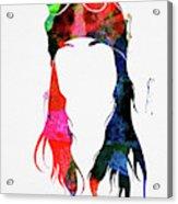 Axl Rose Watercolor Acrylic Print