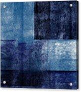Azul Blocks 1- Art by Linda Woods Acrylic Print
