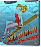 B - 17 Aluminum Overcast Pin-up Acrylic Print