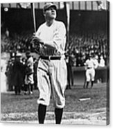 Babe Ruth Batting For Ny Yankees Acrylic Print