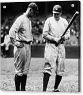 Babe Ruth Lou Gehrig 1923 Acrylic Print