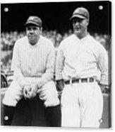 Babe Ruth Lou Gehrig Yankee Stadium Acrylic Print