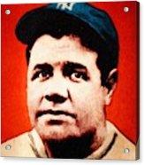 Babe Ruth, Portrait Acrylic Print