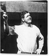 Babe Ruth Salutes The Crowd Acrylic Print