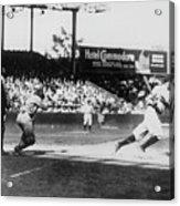 Babe Ruth Smashing 1920 Acrylic Print