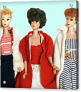 Baby It's Cold Outside Barbies Acrylic Print