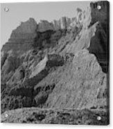Badlands South Dakota Black And White Acrylic Print