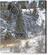 Badlands Winter Acrylic Print
