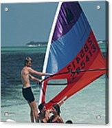 Bahamas Windsurfing Acrylic Print