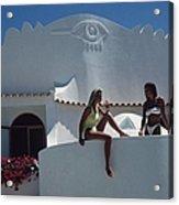 Balcony Bathing Acrylic Print