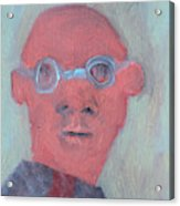 Bald Man In Glasses Acrylic Print