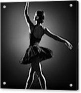 Ballerina Dancing Acrylic Print