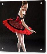 Ballerina On Point Acrylic Print