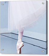 Ballerina On Pointe Low Angle View Acrylic Print
