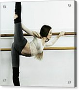 Ballet Dancer Stretching In Dance Acrylic Print