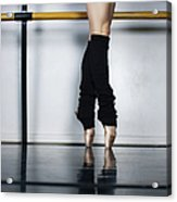 Ballet Holdiing Bar In Classic Pointe Acrylic Print