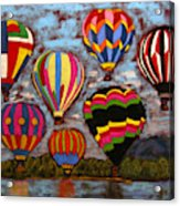 Balloon Family Acrylic Print