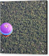 Balloon Over Forest Acrylic Print