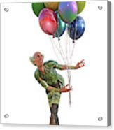 Balloons And Happy Guy Acrylic Print