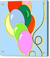 Balloons Of Loose Colors Acrylic Print