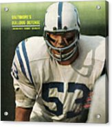 Baltimore Colts Dennis Gaubatz Sports Illustrated Cover Acrylic Print