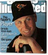 Baltimore Orioles Cal Ripken Jr, 1995 Mlb Baseball Preview Sports Illustrated Cover Acrylic Print