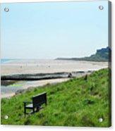 Bamburgh Castle And Beach Acrylic Print