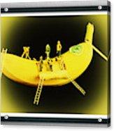 Banana Boat Mining Company Black Frame Acrylic Print