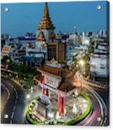 Bangkok Traffic Circle Acrylic Print