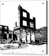 Bank Rhyolite Ghost Ghost Nevada Acrylic Print