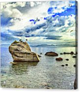 Bansai Rock, Lake Tahoe, Nevada, Panorama Acrylic Print