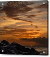 Barbados Sunset Clouds Acrylic Print