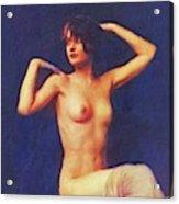 Barbara Stanwyck, Vintage Movie Star Nude Acrylic Print