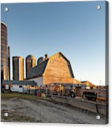 Barn And Silos Acrylic Print