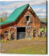 Barn In Autumn Acrylic Print