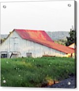 Barn With Red Roof Acrylic Print