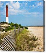 Barnegat Lighthouse, Sand, Beach, Dune Acrylic Print