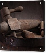 Barrel Tap With Corks Acrylic Print