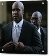 Barry Bonds Perjury Trial Begins In San Acrylic Print