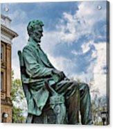 Bascom Hall Lincoln Statue Acrylic Print